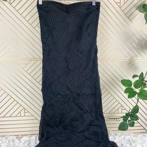 GIORGIO ARMANI Black Silk Blend High Waisted Skirt